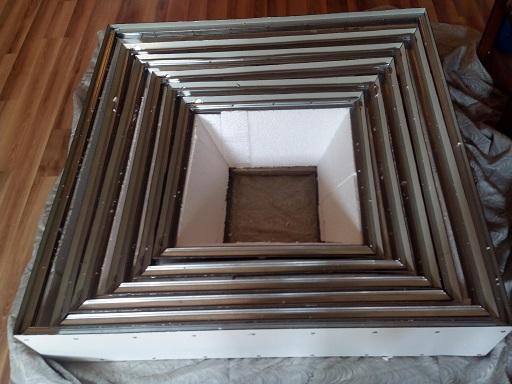 пирамида для земляники - ярусы с утеплением пенопластом