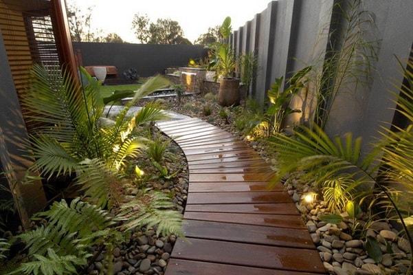деревянные садовые дорожки фото