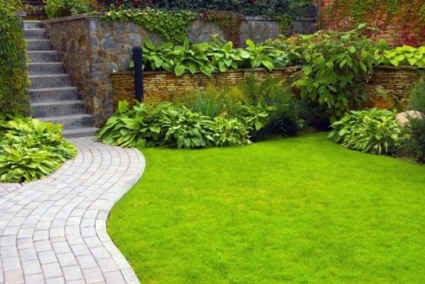 дорожки в саду из тротуарной плитки фото