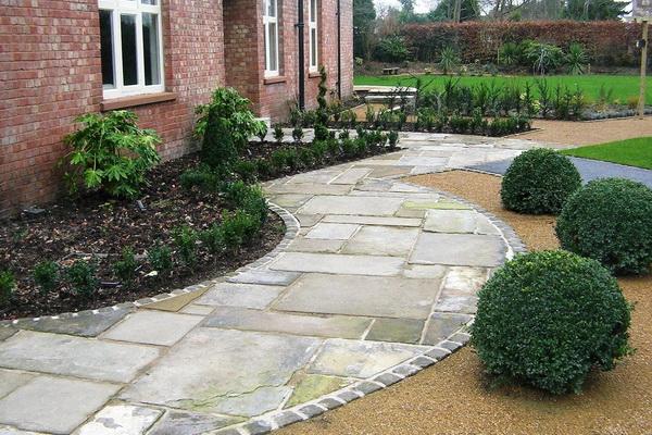 садовые дорожки из природного камня фото