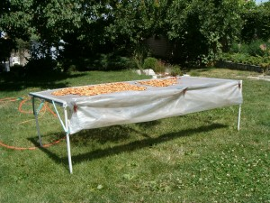 самодельная солнечная сетка сушилка для сушки фруктов