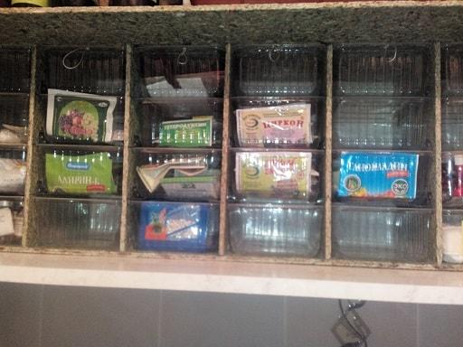 бокс для хранения мелочей из пластиковых контейнеров
