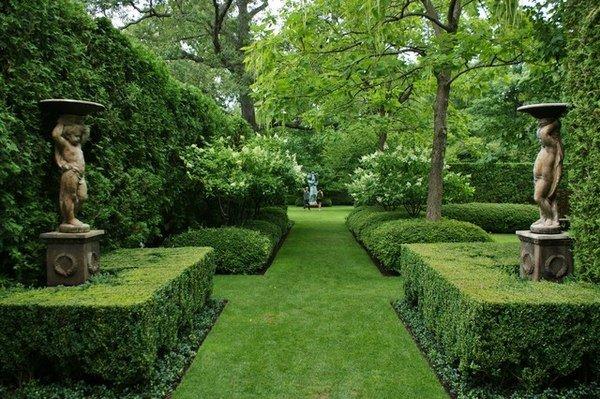 традиционный английский сад