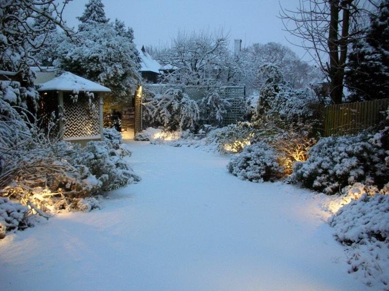 Декоративная зимняя подсветка